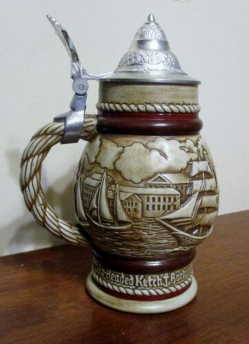 Vintage 1977 Avon Collectible Beer Stein Sailing Nautical Tall Ships #219169