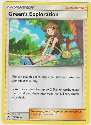 Pokemon TCG SM Unbroken Bonds 175/214 Green's Exploration Trainer Card