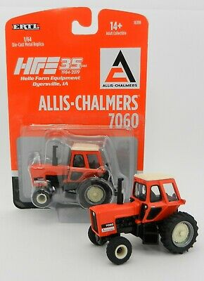 Farm Toys 1 64 (2019 HELLE FARM 35th 1:64 ERTL *ALLIS-CHALMERS* 7060 Tractor DIAMOND TREAD)