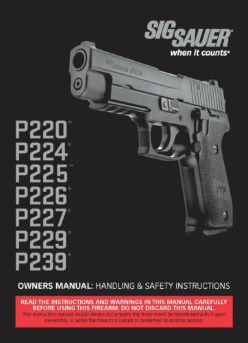 Sig Sauer P220 ,224,225,226,227,229,239 Owners Manual  79 Page