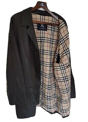 Mens LONDON by BURBERRY leather jacket/coat. Size UK46/XL.Immaculate RRP £1,495.