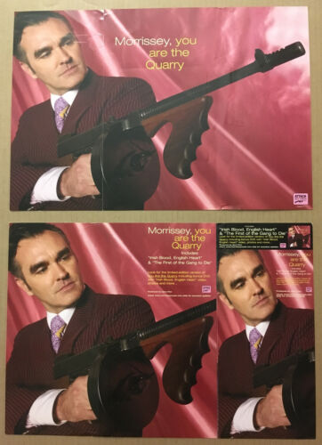 The Smiths MORRISSEY Rare 2004 DOUBLE SIDED PROMO POSTER FLAT for Quarry CD USA