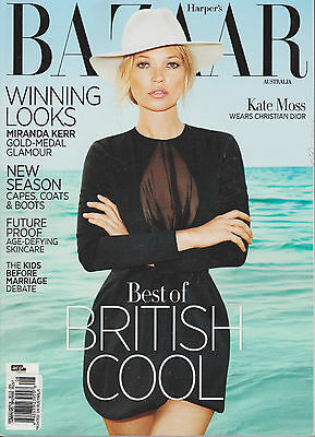 HARPER'S BAZAAR AUSTRALIA AUGUST 2012, KATE MOSS, BEST OF BRITISH COOL.