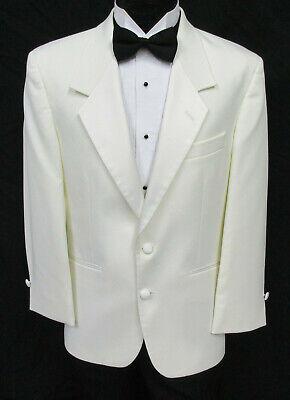 Formale Tuxedo Jacket (Men's Ivory Tuxedo Jacket with Satin Notch Lapels Formal Wedding Cruise Mason)