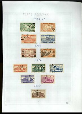 Syria 1946-1953 Album Page Of Stamps #V21223