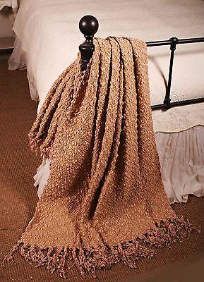 Lap Blanket Cornsilk Gold Pom Pom Yarn Throw