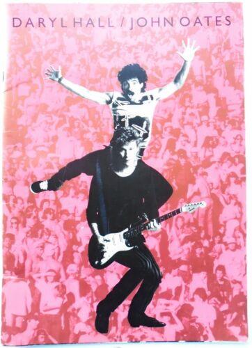 Vintage Daryl Hall & John Oates Live Thru 85 Tour Program Book 1984