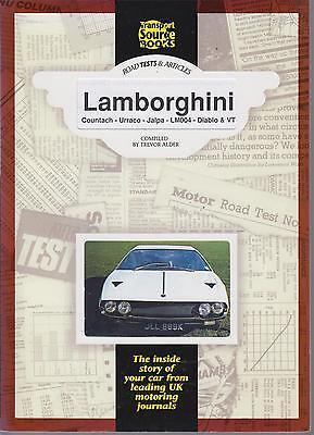 LAMBORGHINI COUNTACH URRACO JALPA LM004 DIABLO 1973-1994 PERIOD ROAD TESTS BOOK