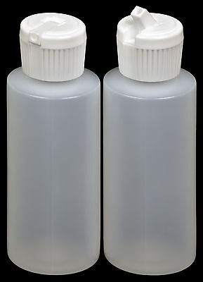 Plastic Bottle Wwhite Turret Lid 2-oz. 100-pack New
