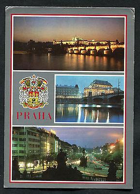 C1990s Multiviews of Prague at Night