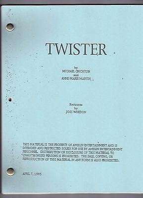 TWISTER movie script starring Helen Hunt