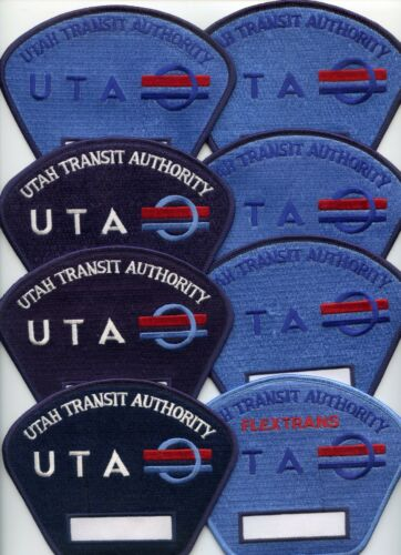 UTAH PUBLIC TRANSPORTATION Patch Lot Trade Stock 8 Police Patches POLICE PATCH