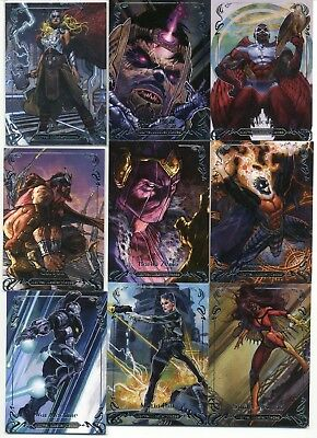 Thor Falcon War Machine 2018 UD Marvel Masterpieces Base Tier 3 #/999 LOT 15