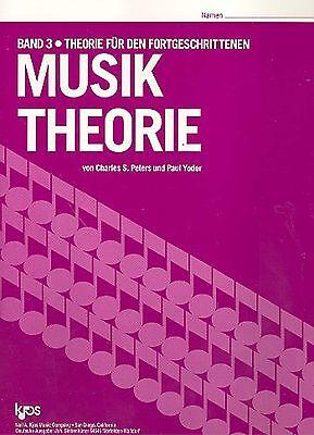 Musiktheorie von Charles S. Peters und Paul Yoder Kjos Verlag Band 3 - Bd.3