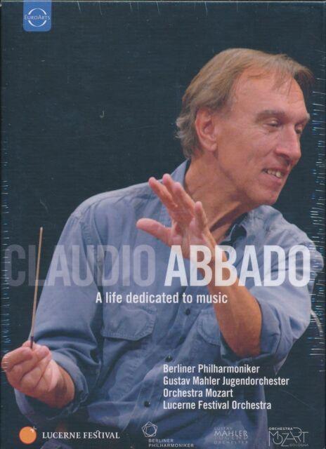 Caludio Abbado A Life Dedicated to Music DVD box set NEW 8-disc  DTS 5.1