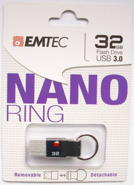 32 GB USB Stick FlaschDrive USB 3,0 Nano Ring PC Handy Tablet Speichermedien