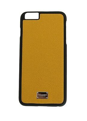 NEW $200 DOLCE & GABBANA Phone Case Skin Yellow Dauphine Leather iPhone6 Plus