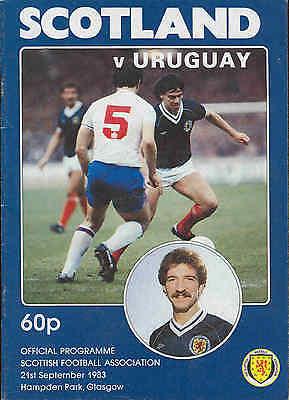 Football Programme - Scotland v Uruguay - 1983