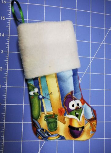 VEGGIE TALES CHRISTMAS STOCKING ORNAMENT/GIFT CARD HOLDER