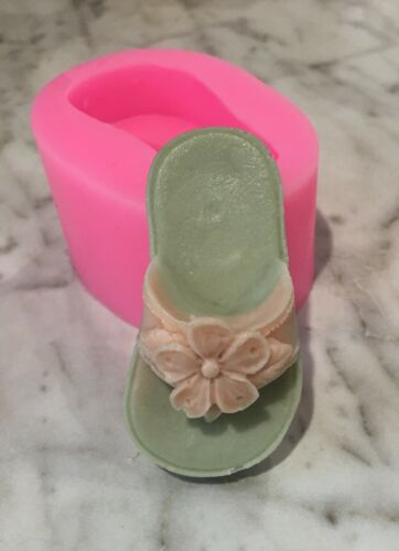 Silicone Flip flop mold soap, candy, candle. Fast Shipping!