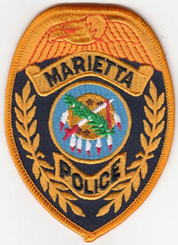 MARIETTA POLICE PATCH OKLAHOMA OK