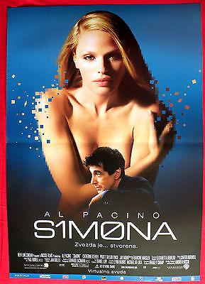 SIMONE 2002 AL PACINO CATHERINE KEENER RACHEL ROBERTS SERBIAN MOVIE POSTER