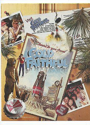 Budweiser Cold Faithful1986 Magazine Ad Bud Beer Print Advertising