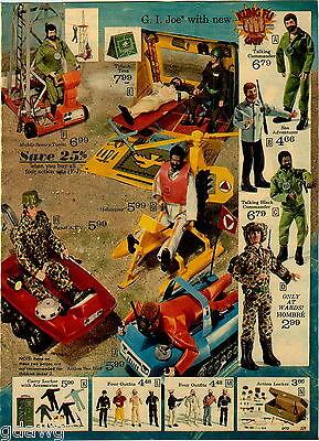 1974 PAPER AD 4 Pg Action Figure GI Joe Big Jim Boy Scout Apes Johnny West Jane