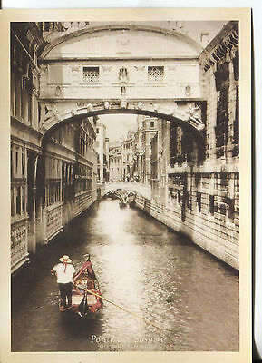 POST CARD OF THE BRIDGE OF SIGHS IN VENICE ITALY