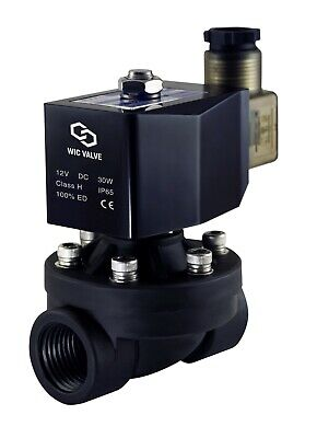 Plastic Electric Air Water Zero Differential Solenoid Valve 34 Inch Nc 12v Dc