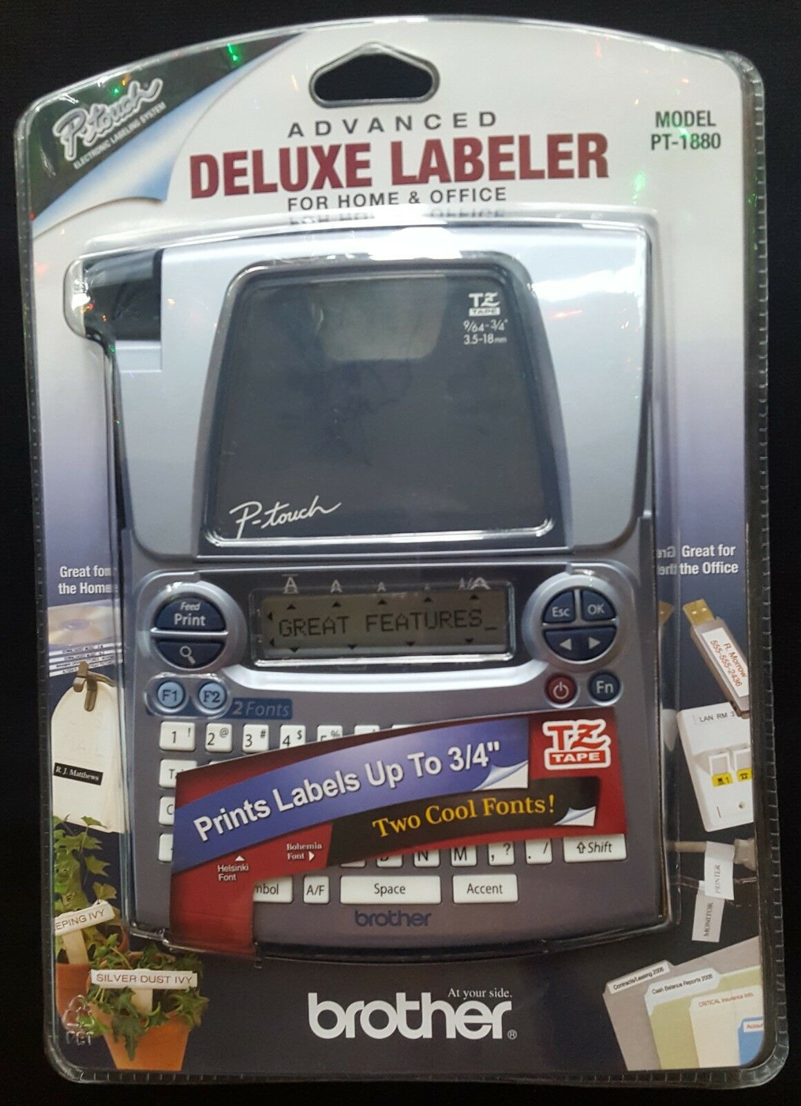 Brother PT-1880 Advanced Deluxe Labeler Thermal Printer For