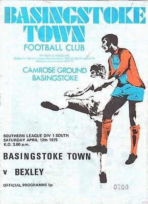 Basingstoke Town v Bexley United 1974/5 Southern League