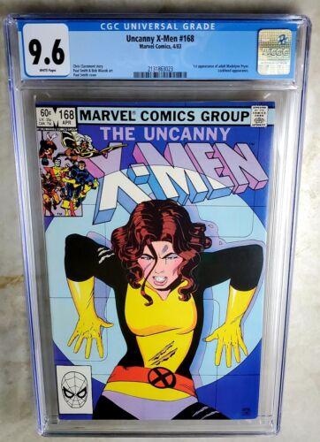Uncanny X-Men #168 1st Madelyne Pryor - Marvel 1983 CGC 9.6 NM+ WP Comic I0145