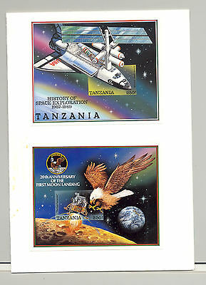 Tanzania #506-507 , Apollo 11, Space Shuttle, Eagle, Birds 2v. s/s imperf proofs