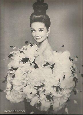 60's Avedon Photographed 4-Page Fashion Editorial-Audrey Hepburn-De Ribes-Moreau