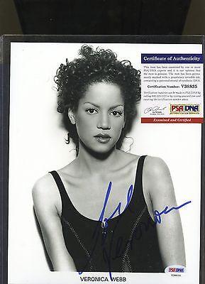 VERONICA WEBB Signed 8x10 Photo PSA/DNA COA Autograph AUTO