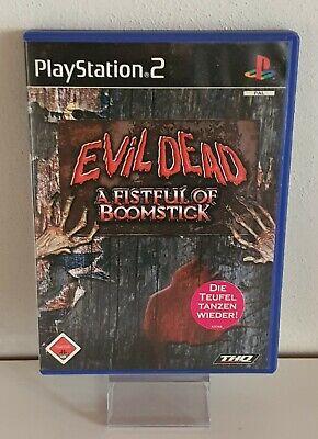 EVIL DEAD A Fistful of Boomstick Playstation PS 2 FSK18 OVP+Anl.RARITÄT A9058, usado segunda mano  Embacar hacia Spain
