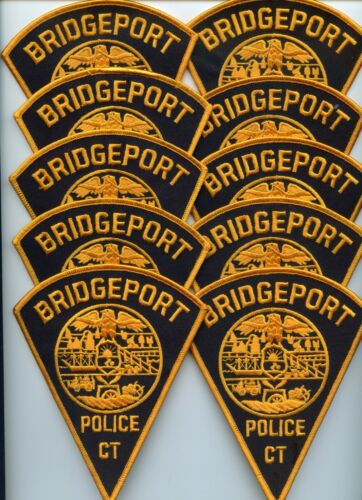 BRIDGEPORT CONNECTICUT Trade Stock 10 Police Patches Style #B POLICE PATCH