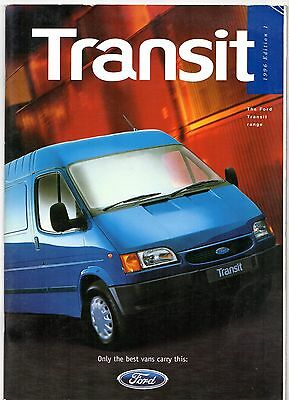 Ford Transit Mk3 1996 UK Market Sales Brochure Van High Roof Chassis-Cab Bus
