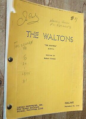 THE WALTONS ORIGINAL TV SERIES SHOW SCRIPT THE  BOOSTERS