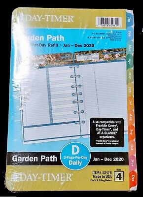 Day-timer Garden Path 2-page-per-day Planner Refill Desk Size