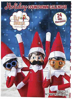 Elf on the Shelf Holiday Christmas Candy Chocolate Countdown Calendar - 24 Days