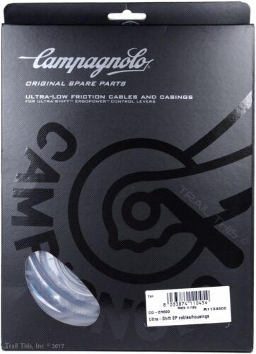 Campagnolo ErgoPower UltraShift Bike Brake/Shifter Shift Cable/Housing Set Black