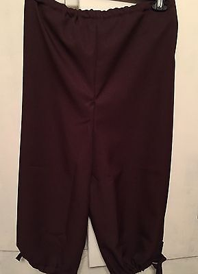 Renaissance Knickers Costume Knee length pant-BROWN-No pockets-NWT-to 40