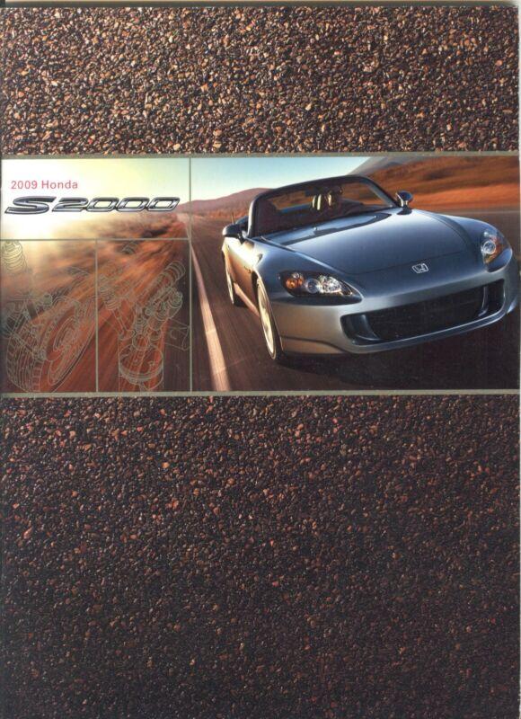 2009 Honda S2000 and S2000 CR Dealer Sales Brochure - Mint!