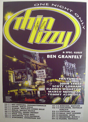 THIN LIZZY CONCERT TOUR POSTER 1999 AUTOGRAPHED BY MARCO MENDOZA