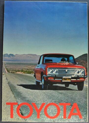 1969 Toyota Brochure Corolla Corona Crown Mark II Wagon Land Cruiser Original
