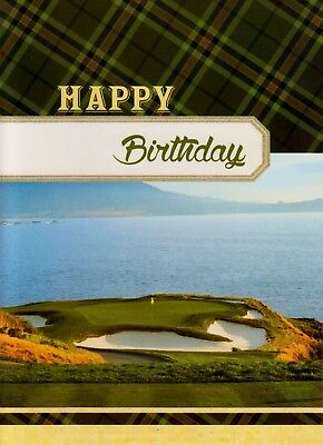Religious Christian Birthday Greeting Card With Scripture Ocean Golf Course ](Christian Birthday)