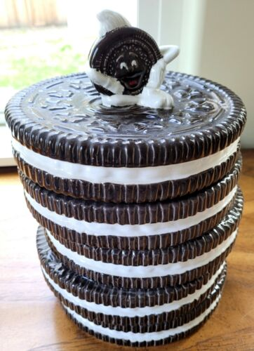 VINTAGE 1970s~Nabisco Classics Collection - Stacked Oreo Cookie Jar w/Lid