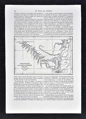 1880 Tour du Monde Map - Andres Route - Aloag Toachi El Mirador - Ecuador Quito